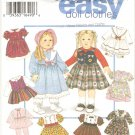 "Simplicity 9381 (1995) 18"" Doll Dress Slip Pantaloons Bonnet Pattern UNCUT"