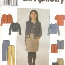 Simplicity 8818 (1999) Girls Jacket Vest Skirt Pants Top Pattern Size 7 8 10 12 14 Part Cut to14