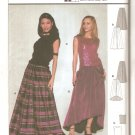 Burda 8717 Pleated Long Skirt Shaped Hem Sleeveless Top Pattern Size 6 8 10 12 14 16 18 UNCUT