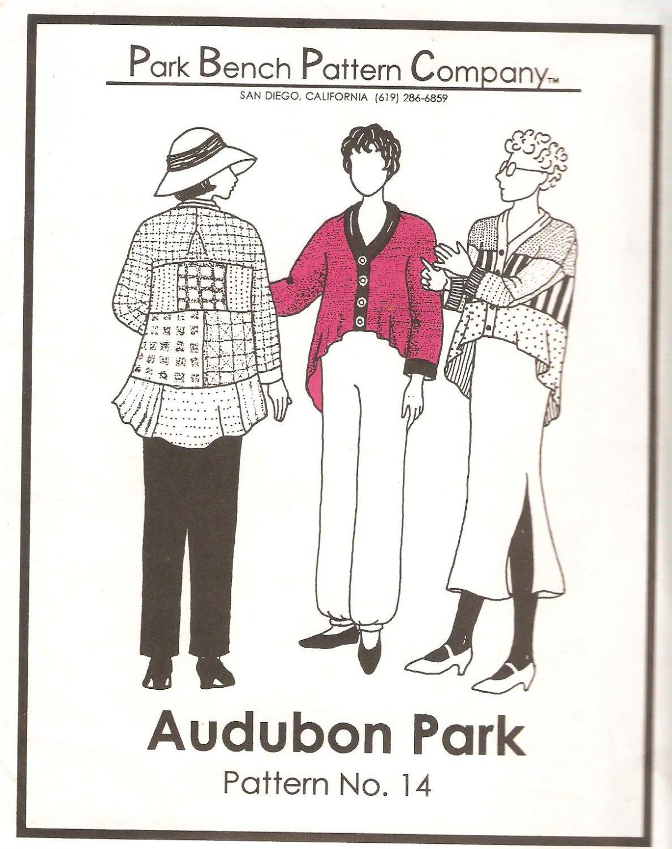 Park Bench Pattern Co. #14 (1995) Swing Coat Jacket Blouse Top Shaped Hem UNCUT