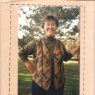 Patchworks  #130 Prairie Braid Vest Pattern Size Small 8 10 Medium 12 14 Large 16 18 UNCUT
