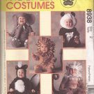 McCalls 8938 (1997) Skunk Lion Monkey Elephant Panda Costume Pattern Size 2 UNCUT