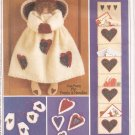 McCalls 9556 (1998) Angel Christmas Mittens Hearts Ornaments Card Holder Pattern UNCUT