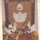 Twice as Nice Designs #162 (1992) Cluck & Quackers Shelf Sitter Peg Hanger Pattern PART CUT