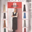 McCalls 2311 (1999) Petite-able Dress Jumper Length Neck Variations Pattern Size 8 10 12
