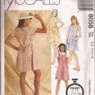 McCalls 8056 (1996) Girls A-Line Dress Jumper Pattern Size 10 12 14 UNCUT