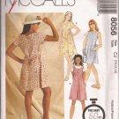 McCalls 8056 (1996) Girls A-Line Dress Jumper Pattern Size 10 12 14 UNCUT