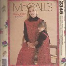 McCalls 2345 (1999) Mommy & Me Misses Childrens Girls Jumper Pattern UNCUT