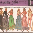 McCalls 3399 ( 1972) Bodysuit Blouse Skirt Trim Variations Pattern Size 14 UNCUT