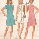 McCalls 2401 (1970) Misses Junior Lap Neck Keyhole Front Dress Pattern Size 16 UNCUT