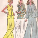 McCalls 3551 (1973) Front Zip Tunic Belt Tie Patch Pockets Bell Bottom Pants Pattern Size 16 UNCUT