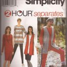 Simplicity 9217 (1994) 2 Hour Dress Tunic Top Vest Skirt Pants Pattern Size Large X-Large PART CUT