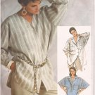 "Simplicity 7284 (1985) Very Loose Fitting ""Boyfriend"" Shirt Top Size 12 14 16 PART CUT to 16"