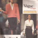 Vogue 2433 (1990) Anne3 Klein II Jacket Skirt Blouse Pattern Size 18 20 22 CUT to 22