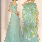 Simplicity 7183 (1975) Vintage Sleeveless V-Neck Dress Poncho Overlay Pattern Size 12 PART CUT