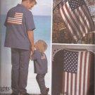 Simplicity 7246 (2002) American Flag USA Eagle Motif Transfers Flag Applique Pattern UNCUT
