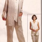 McCalls 6972 (1994) Unlined Jacket Long Vest Pants Pattern  Plus Size 18 20 22 24 UNCUT