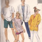 McCalls 4044 (1988) Misses, Men, Teen Cardigan Top Pants Shorts Pattern Size Large UNCUT