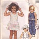 McCalls 4239 (1989) Toddler Child Junpsuit Sundress Romper Hat Pattern Size1 2 3 PART CUT