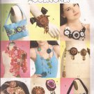 McCalls 5901 (2009) Brooches Belt Necklace Headband Bags Scarf Yo-Yo Treatments Pattern UNCUT