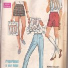 "Simplicity 7688 (1968) Vintage Shorts Pants Proportioned to Height Pattern Waist 29"" Hip 40"" UNCUT"
