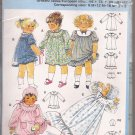 Burda 8175 Infant Toddler Gown Dress Bloomers Cap Gown Pattern Size 6M 12M 18M 2 3 UNCUT