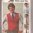 Simplicity 9745 (1980) Mens Lined Vest Wide Tie Pattern Size 42 PART CUT