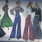 Simplicity 5310 (1972) Vintage Bell Bottom Pants Gored Skirt Blouse Pattern Size 16 PART CUT