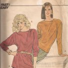 Butterick 4546 Asymmetrical Button Closing Long Dolman Sleeves Top Pattern Size 12 14 16 UNCUT