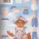 Butterick 4791 (1996) Infant T-Shirt Romper Jumpsuit Skirt Shorts Pants Hat Pattern Size NB S M