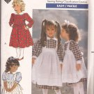 Butterick 4404 (1989) Toddlers Childs Girls Dress Pinafore Pattern Size 1 2 3 UNCUT