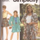 Simplicity 7677 (1991) Wide Leg ShortsTank Top Unlined Jacket Pattern Size 18 20 22 24 UNCUT
