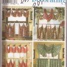 Simplicity 7465 (1997) Window Valance Buttons Tabs Bows Tier Curtains Ruffle Pattern UNCUT