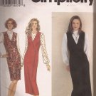 Simplicity 8598 (1993) Front Wrap Double Breast Button Jumper Blouse Pattern Size 12 14 16 UNCUT
