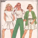 Butterick 4939 Girls Jacket Top Elastic Waist Skirt Pants Pattern Size 12 14 PART CUT