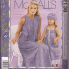 McCalls 2136 (1999) Mother Daughter Dress Hat Purse Pattern Size 8 -22 and  3-8 UNCUT