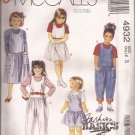 McCalls 4932 (1990) Toddlers Childs Girls Jumper Dresses Jumpsuit Pants Pattern Size 5 UNCUT