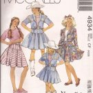 McCalls 4934 (1990) Childs Girls Cowgirl Western Jacket Skirt Top Pattern Size 4 5 6 UNCUT