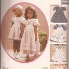 McCalls 4128 (1989) Childs Girls Puff Sleeve Dresses Pinafores Sundress Pattern Size 4 UNCUT