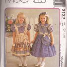 McCalls 2132 (1999) Girls Dress Pinafore Purse Headband Bunny Dolls Pattern Size 4 5 6 UNCUT