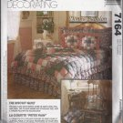 McCalls 7164 (1994) Biscuit Quilt Dust Ruffle Shams Throw Pillow Pattern Size Twin Full King UNCUT