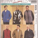 McCalls 3029 (2000) Misses Mens Teens Unisex Jacket Vest Pattern Size S M L UNCUT