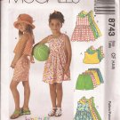 McCalls 8743 (1997) Childs Girls Dress Romper Top Pull-on Shorts Pattern Size 4 5 6 UNCUT