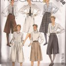 McCalls 2058 (1985) Culottes Split A-Line Pleated Skirts Pattern Size 12 CUT