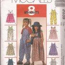 McCalls 2039 (1999) Childs Girls Jumper Jumpsuit Dress Applique Tie Pattern Size4 5 6 UNCUT