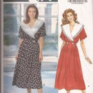 Butterick 5974 (1992) Leslie Fay Designer Dress Collar Inset Waistband Pattern Size 6 8 10 UNCUT