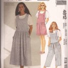 McCalls 4812 (1990) Jumper Jumpsuit Romper Dress Pattern Size Small 10 12 UNCUT
