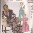 McCalls 5773 (1992)Jumpsuit Dress Detachable Collar V-Front Bodice Pattern Size 6 8 10 UNCUT