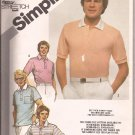 Simplicity 9994 (1981) Mens Pullover Stretch Knit Polo Top Shirt Pattern Size 40 42 44 UNCUT