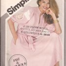 Simplicity 5317 (1981) Pullover Stand Up Collar Shoulder Tucks Dress Sash Pattern Size 6 8 10 UNCUT
